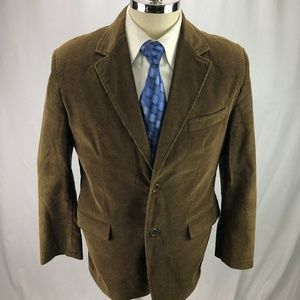 Faconnable Men's Brown Corduroy Blazer Jacket 42S